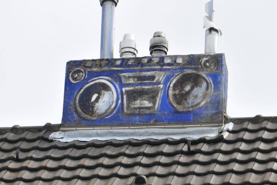 Dach mit Ghetttoblaster