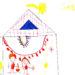 Ein gemaltes Bild vom weihnachtlichen Stall.